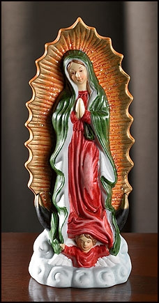 Our Lady of Guadalupe 6.5 Inch Porcelain statue
