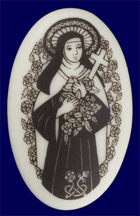 St. Therese Porcelain Pendant