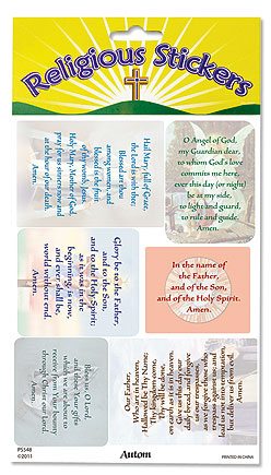 Favorite Catholic Prayers Stickers
