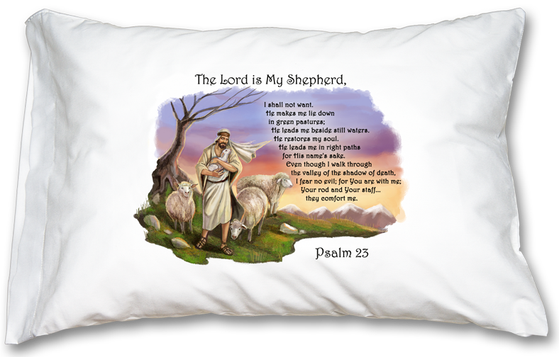 Good Shepherd Our Father Prayer Pillowcase
