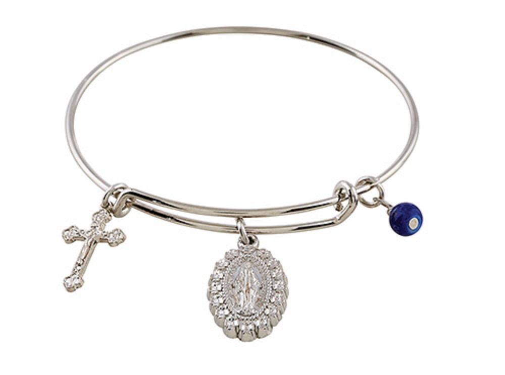 Be Blessed Bangle Bracelet Miraculous Medal