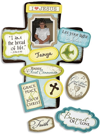 First Communion Magnetic Cross set