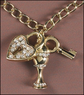 Heart Locket Key Chalice Pendant