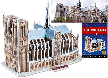 Notre Dame Cathedral 3D puzzle