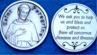 Holy Coins imported from the Holy Land, St. Peregrine