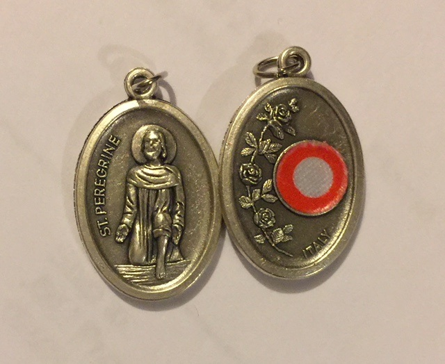 St. Peregrine Relic medals Oval