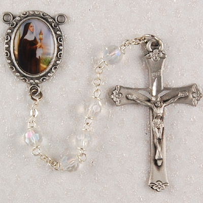 St. Clare Personalized Engraved Rosary