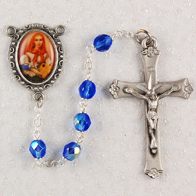 St. Dymphna Personalized Engraved Rosary