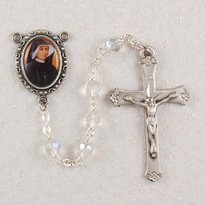 St. Faustina Personalized Engraved Rosary