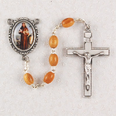 St. Francis Personalized Engraved Rosary