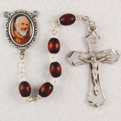 St. Padre Pio Personalized Engraved Rosary