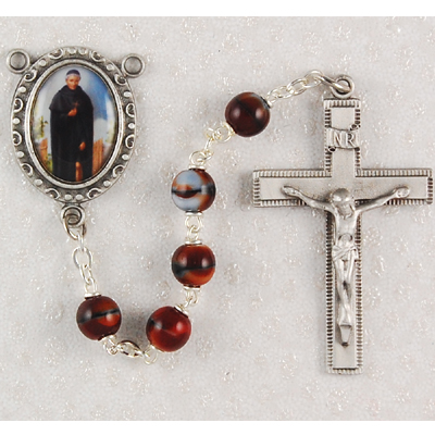 St. Peregrine Personalized Engraved Rosary