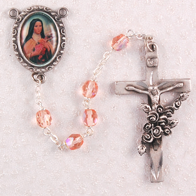 St. Therese Personalized Engraved Rosary