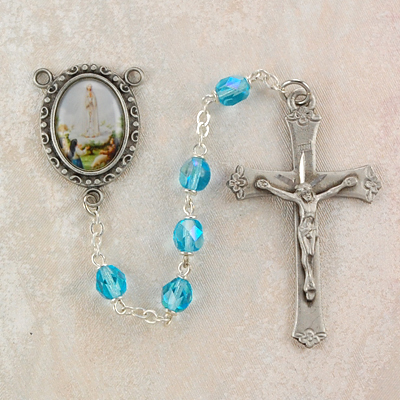 Our Lady of Fatima Personalized Engraved Rosary