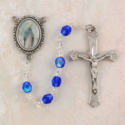 Our Lady of Grace Personalized Engraved Rosary