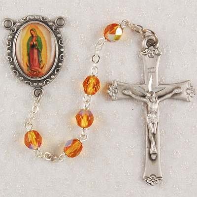 Our Lady of Guadalupe Personalized engraved Rosary