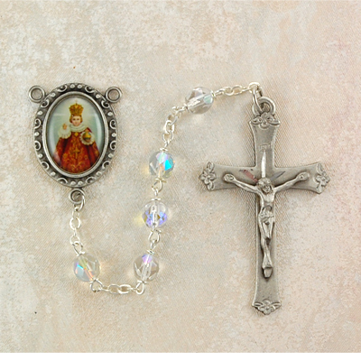 Infant of Prague Personalized Engraved Rosary