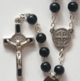 St. Benedict Black Wood rosary