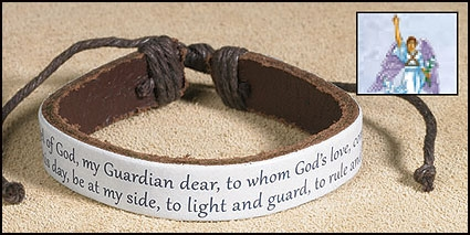 Guardian Angel Leather Bracelet