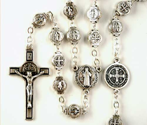 St. Benedicts Rosary made of medallions
