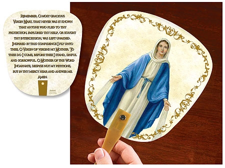 Our Lady of Grace Prayer Fan - Limit 2 per order please!