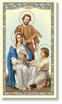 Bulk Pack of Holy Family paper holy cards