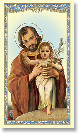 Paper Holy Card, St. Joseph