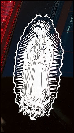 24 pack Our Lady of Guadalupe Auto Decal