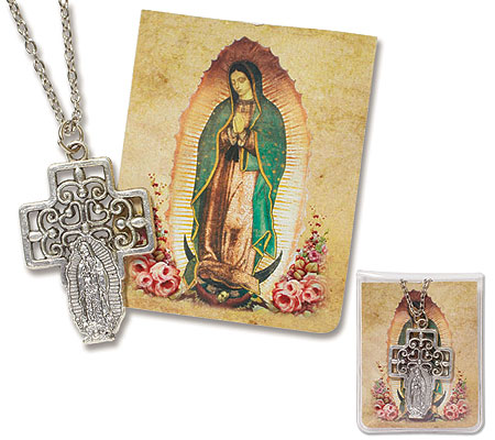Our Lady of Guadalupe pendant in pouch