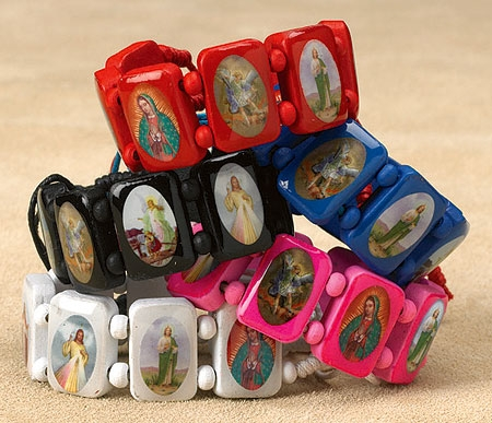 20 pack Devotional SaintsBracelet Assortment