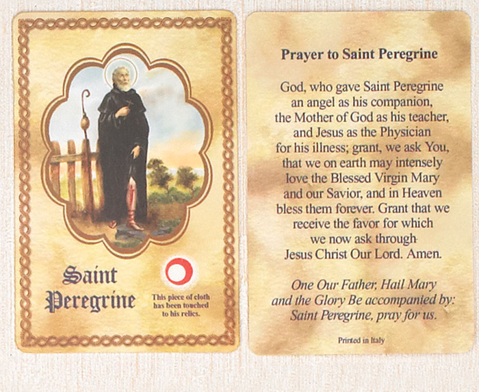 St. Peregrine Relic Card