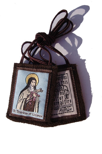 Brown St. Therese Scapular