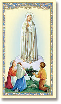 Our Lady of Fatima paper holy card