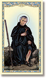 St. Peregrine Paper Holy Card
