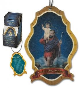 Saint Christopher Devotional Air Freshener