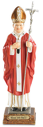 Blessed Pope John Paul II statue