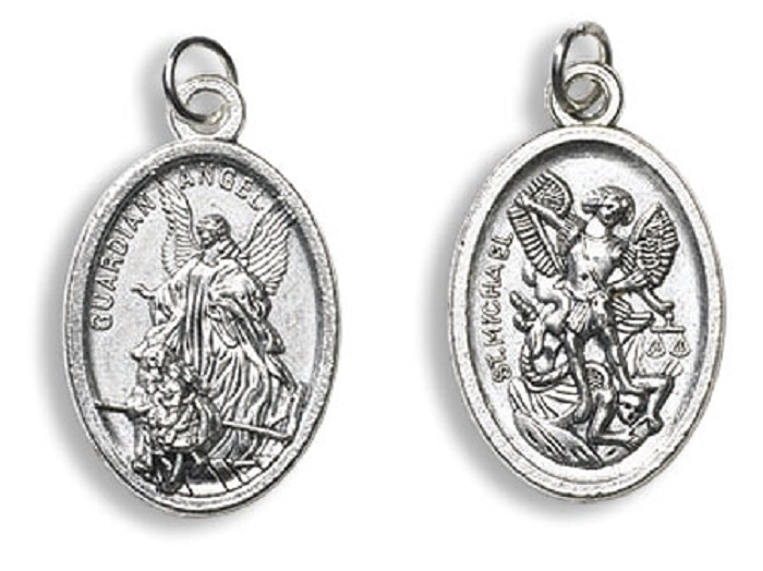 St. Michael with Guardian angel medals buy 1 get 1 free - limit one per order!