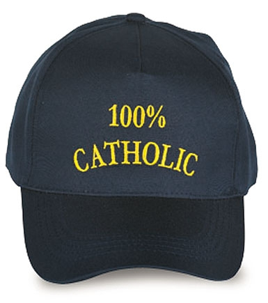 100% Catholic Ball Cap
