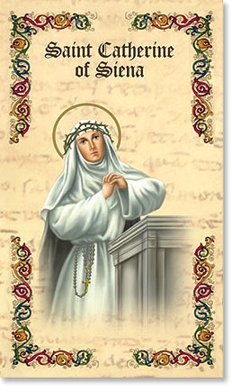 Saint Catherine of Siena Prayer Folder Bi Folder