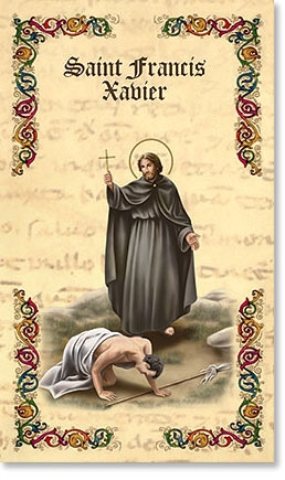 Saint Francis Xavier Bi Fold Prayer Folder