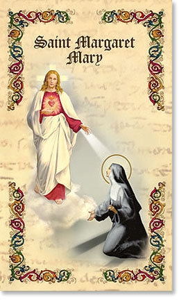 Saint Margaret Mary Bi Fold Prayer Folder