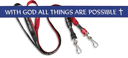 With God all things are possible lanyard buy 1 get 1 free