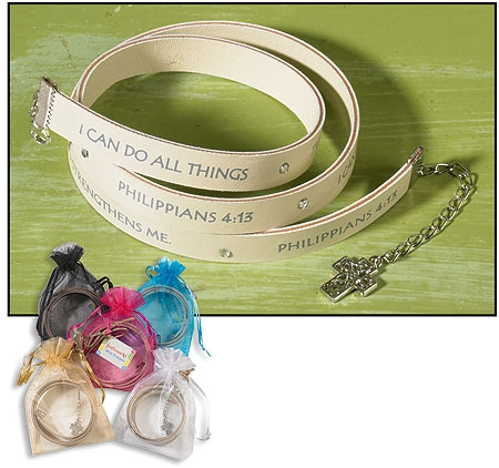 I Can Do All Things Through Christ Wrap bracelet