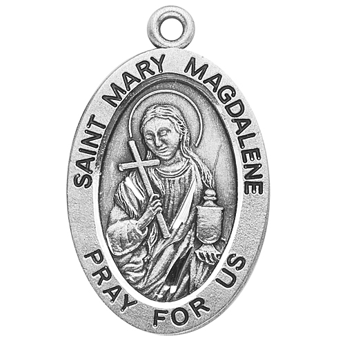 Large Oval St. Mary Magdalene on Chain