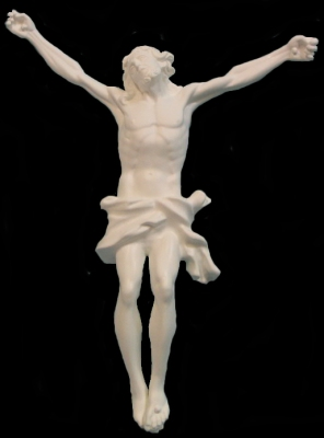 Large Corpus Of Christ In White Resin