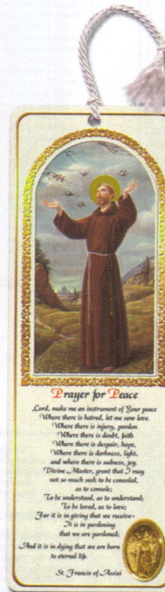 St. Francis bookmark