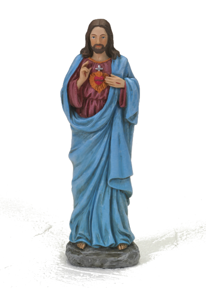 Sacred Heart of Jesus 4 inch resin statue
