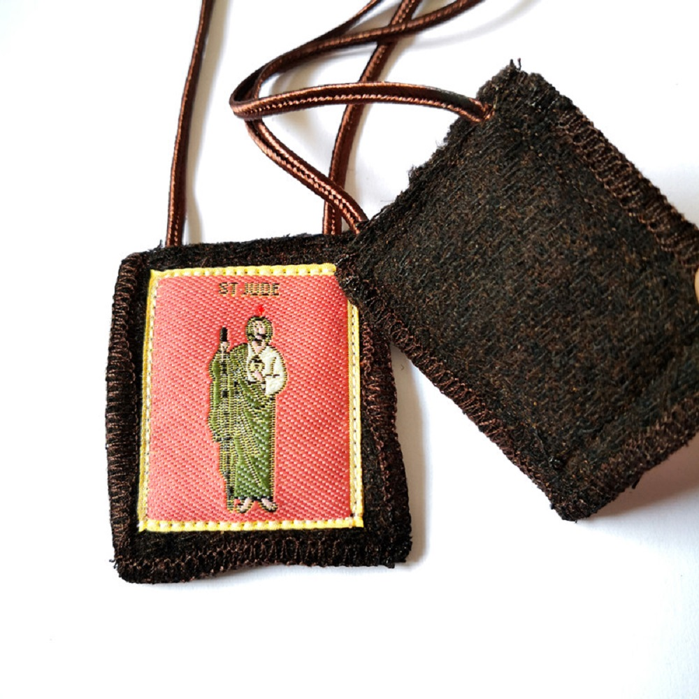 Wool Brown Scapular of St. Jude