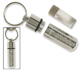 Unique Aluminum Holy Water Vial Keychain