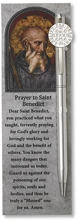 St. Benedict Devotional Pens with Bookmark